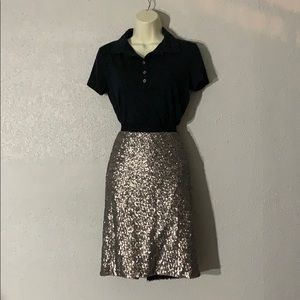 Silver sequence pencil skirt